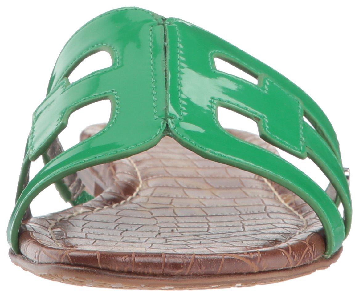 Sam Sandal Edelman Women's Bay Slide Sandal Sam B07D3NTPLJ 6.5 M US Leaf Green Patent d08a44