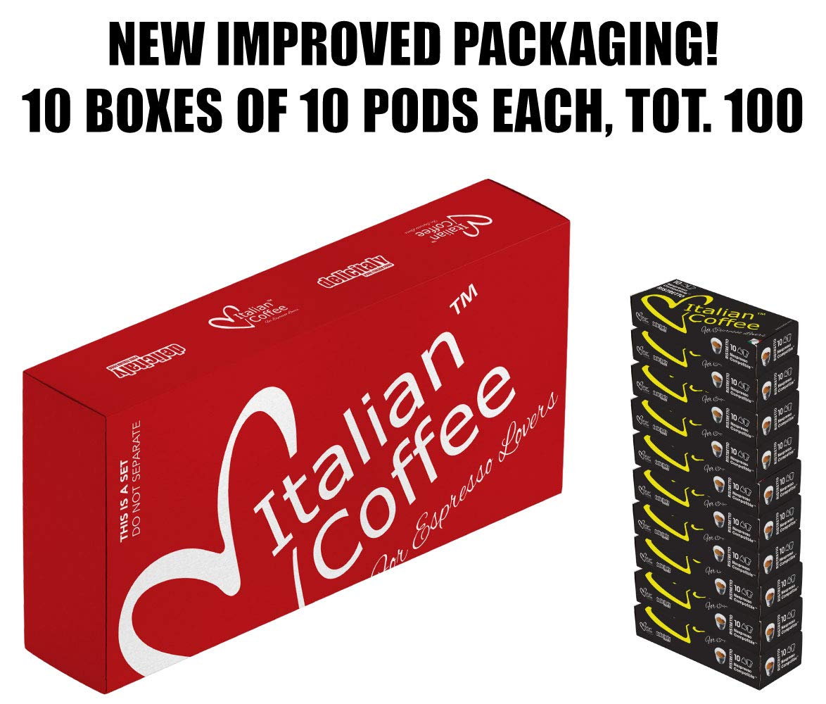 100 Nespresso compatible Italian Expresso capsules DELICITALY (Ristretto)