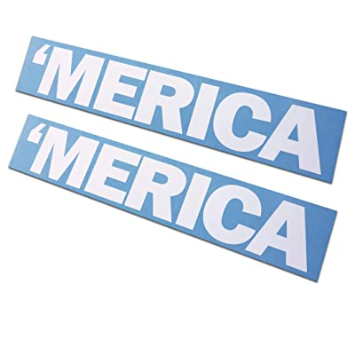 "2 Pack - Merica Decals/Stickers 2x10"": Arts, Crafts & Sewing"