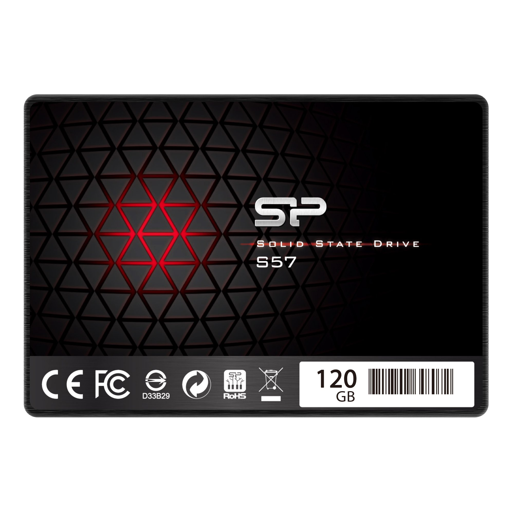 SSD : Silicon Power/Marvell Controller 120GB S57 (SLC Cache.