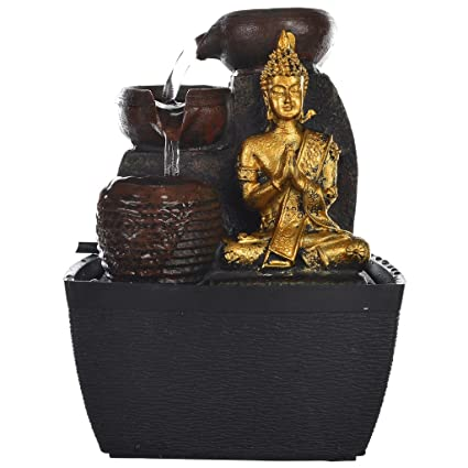 Chronikle polystone buddha 3 steps indoor water fountain amazon chronikle polystone buddha 3 steps indoor water fountain workwithnaturefo