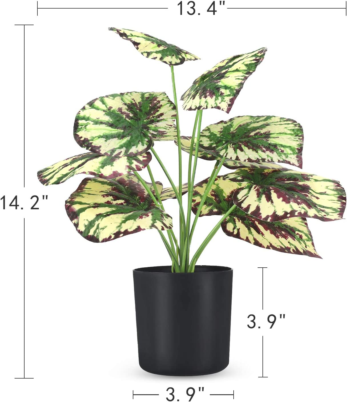 Amazon Com Fake Potted Plants 15 Large Artificial Plants For Home Office Decor Faux Potted Plants Used For Desk Top Decor Purple Begonia Furniture Decor