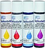 CREARTEC Seifenfarben - Sortiment ( rot , blau , gelb , violett )