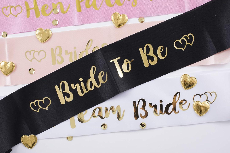 Pyromark Hen Party Sash Black Premium Satin Hen Party Sashes Team Bride Hen Do Night Accessories One Size Fits All Team Bride