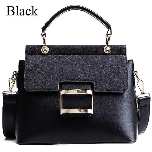 Women Bag Vintage Shoulder Bags Buckle Pu Leather Handbags Crossbody Bags  For Women 68b8a17917f50