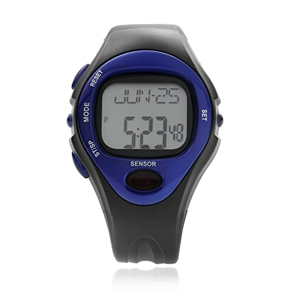 OR® (Old Rubin) Pulsómetro sin correa pectoral, medidor ritmo cardiaco, cronómetro reloj deportivo