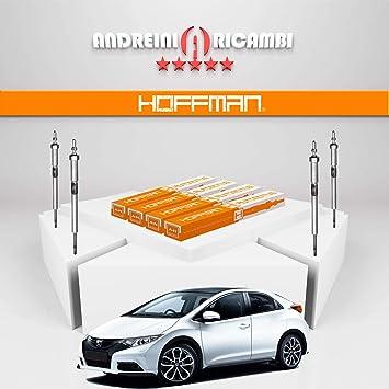 Kit 4 candelette Honda Civic IX 2.2 i-DTEC 110 kW 150 CV a partir 2014 | GN073: Amazon.es: Coche y moto