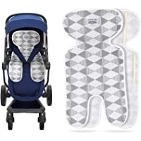 Luchild Baby Stroller Cool Seat Mat Breathable 3D Mesh Cool Cushion Liner for Stroller Car Seat High Chair Pushchair - Gray
