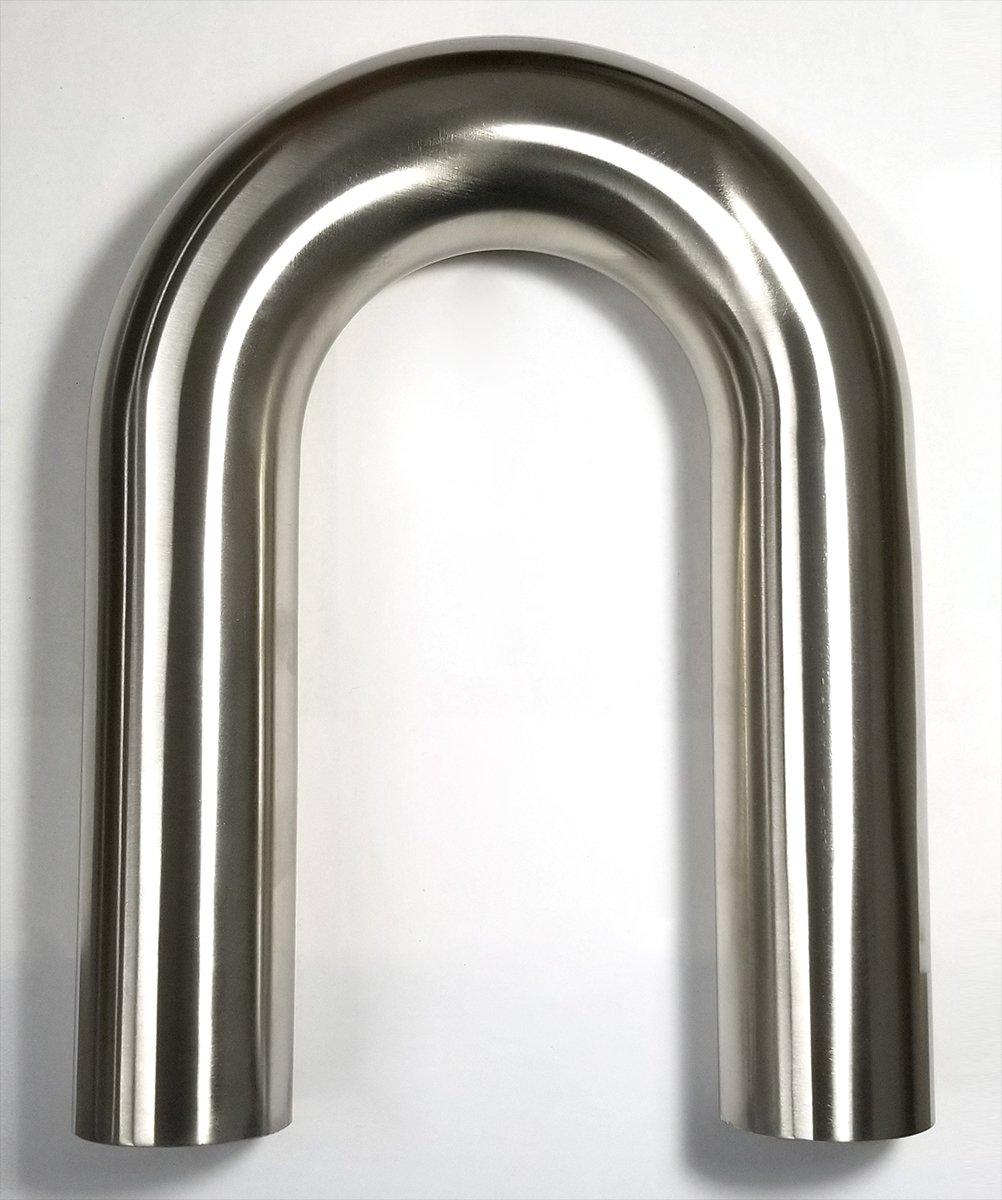 2.5'' Stainless 180° Mandrel Bend 1.5D 16GA/.065'' Wall 6'' Leg/6'' Leg - SS304