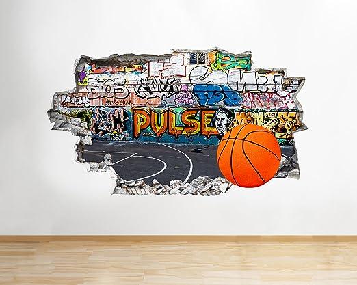 tekkdesigns q413 W Graffiti de Baloncesto Deporte Smashed Adhesivo ...