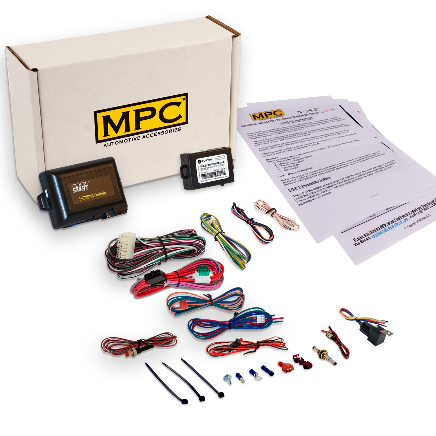 Complete Add-on Remote Start Kit For 2004-2008 Ford F-150 - Use Your Factory Remote - Includes Bypass