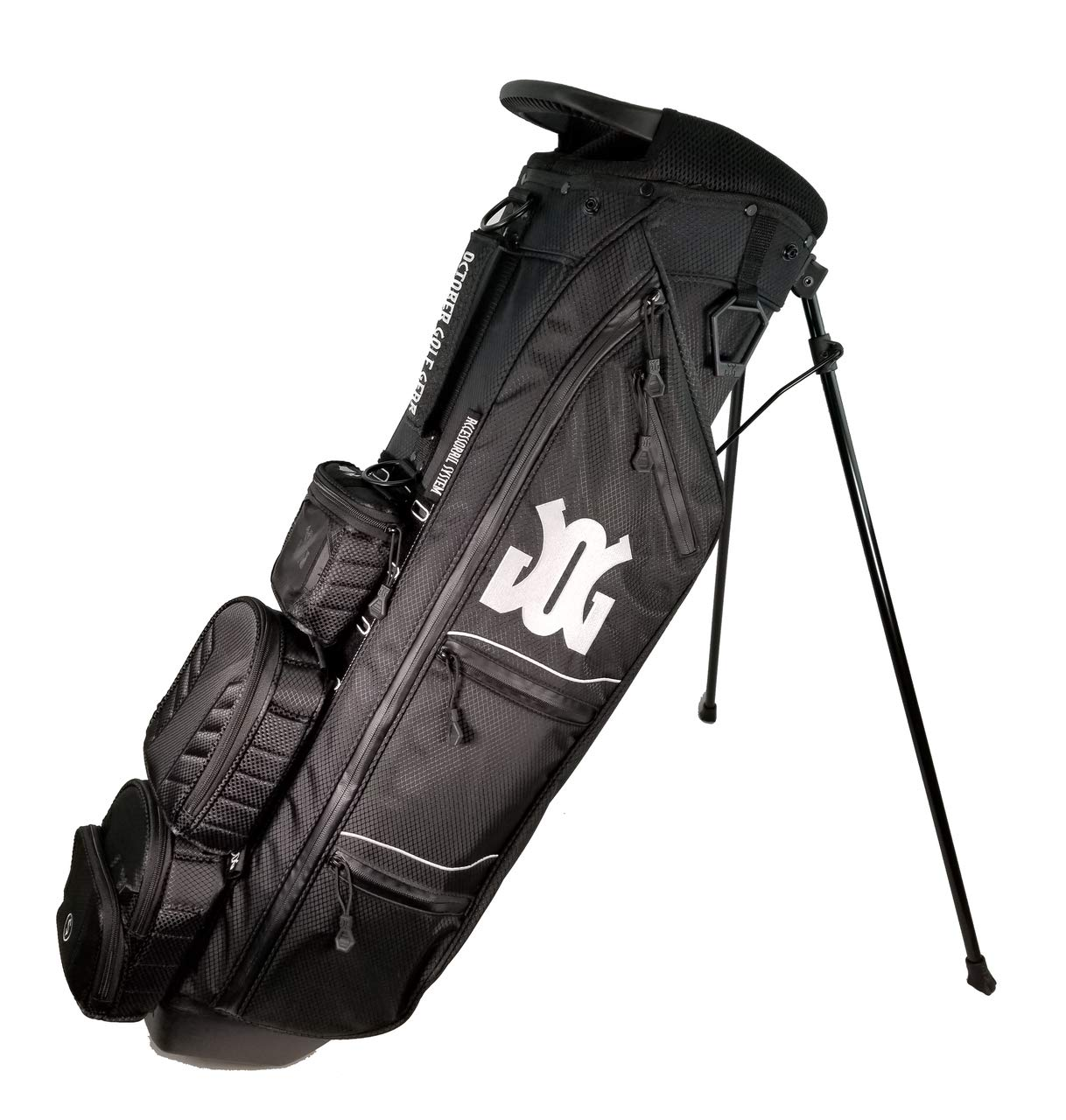October Golf Gear Ultra Lite Stand Bag Basic Kit (Midnight Black)