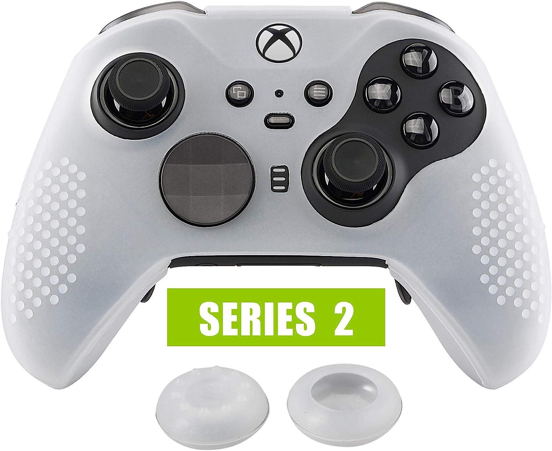 eXtremeRate Funda de Silicona para Mando Xbox One Elite Protector Antideslizante Piel de Controlador Cubierta Skin Case para Controlador Xbox One Elite Serie 2 con Tapas de Joytick(Semitransparente): Amazon.es: Electrónica