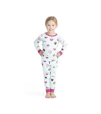 niñas Juegos pijamas de Hatley algodón de manga para lindos cupcakes de 2 orgánico Little larga AAZUTqPcr