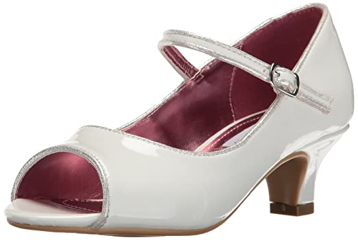 Steve Madden Girls' Jbayylee Heel, White, 2 M US Little Kid