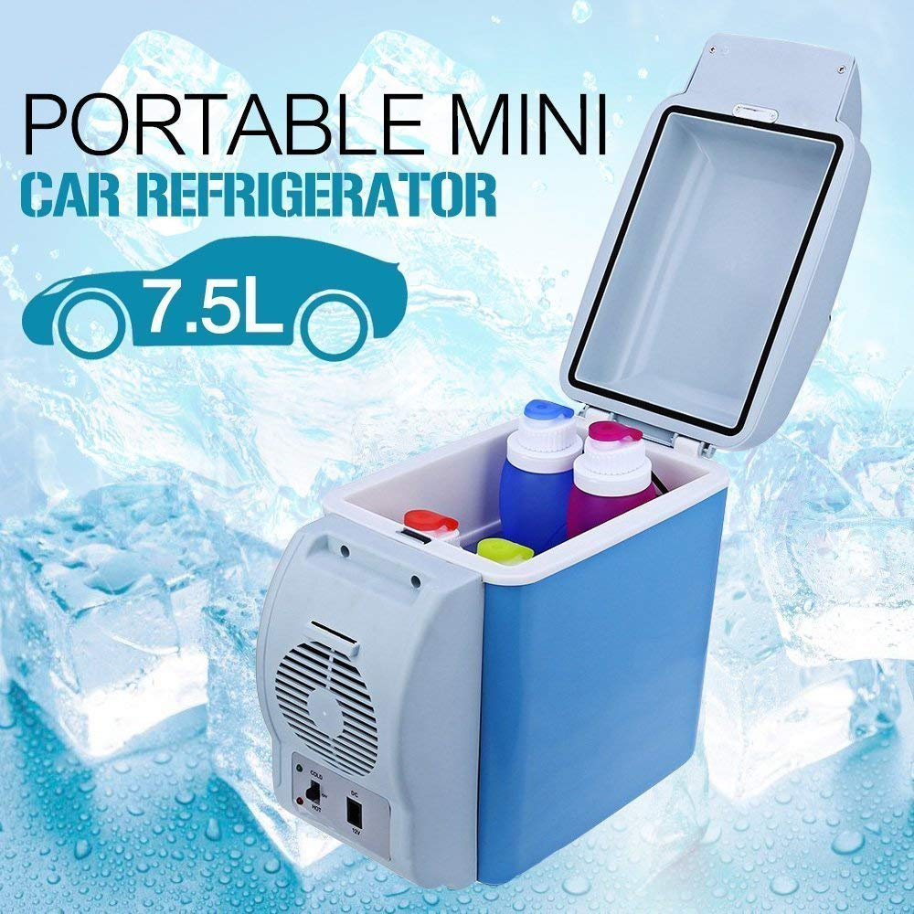Car Cooler Refrigerator 12V Mini Fridge 7.5L Auto Portable Travel Freezer Warmer