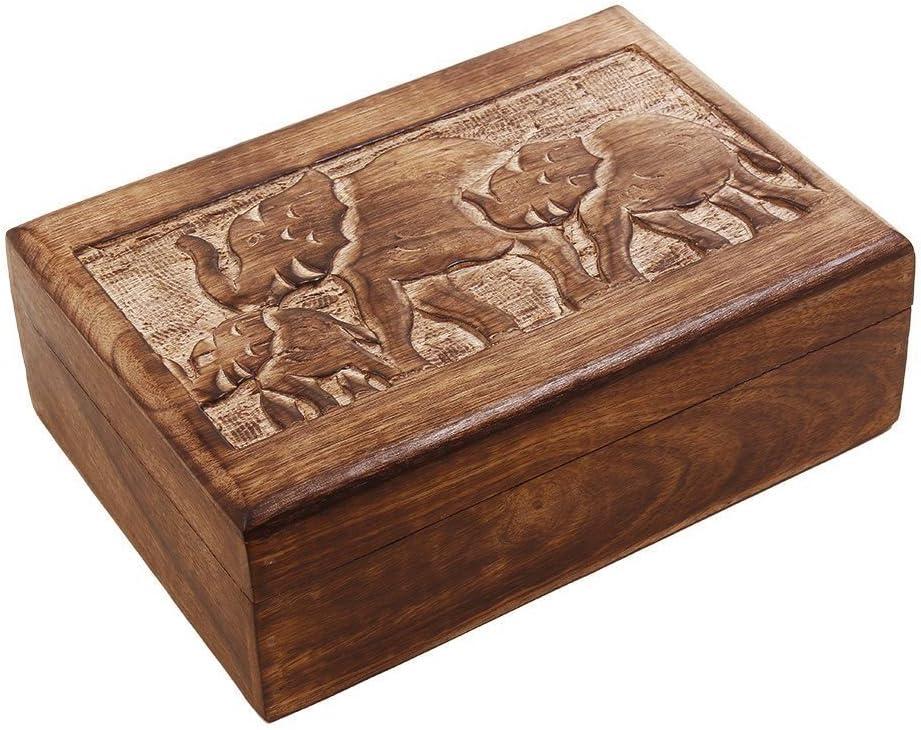 Amazon.com: Regalos de Navidad de madera recuerdo joyería ...