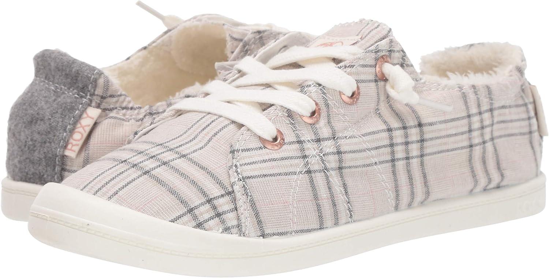 Roxy Womens Bayshore Faux Fur Slip on Sneaker Shoe