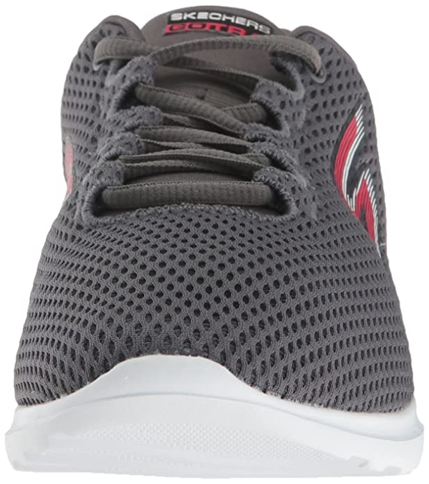 Skechers Performance Go Train-Hype, Zapatillas de Entrenamiento para Mujer, Gris (Charcoal/Pink), 38 EU