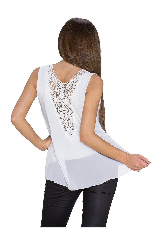 Stylish chiffon top with seductive back panel