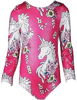 420e6ef39 Amazon.com   CEMXX Leotards for Girls Gymnastics Unicorn Sparkly ...