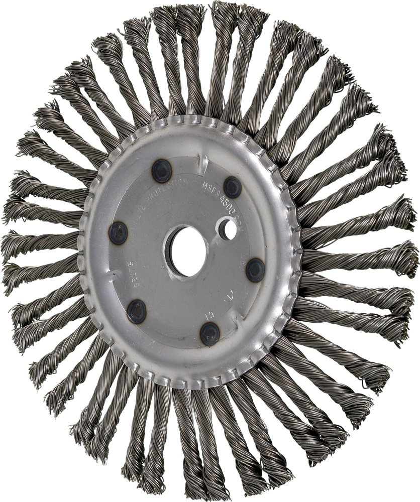 PFERD 82075 Expansion Joint Cleaning Wire Brush 6000 RPM Carbon Steel Wire Pack of 2 1 Arbor Hole.028 Wire Diameter 10 Diameter