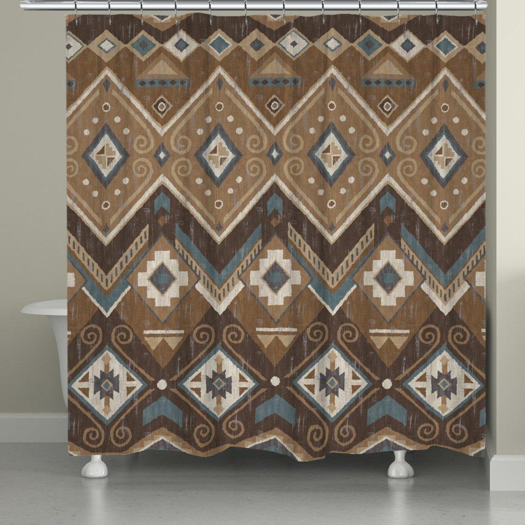Laural Home Santa Fe Shower Curtain, Brown