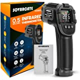 Infrared Thermometer SOVARCATE Digital IR Laser Thermometer Temperature Gun High and Low Temperature Alarm -26°F~1112°F Tempe