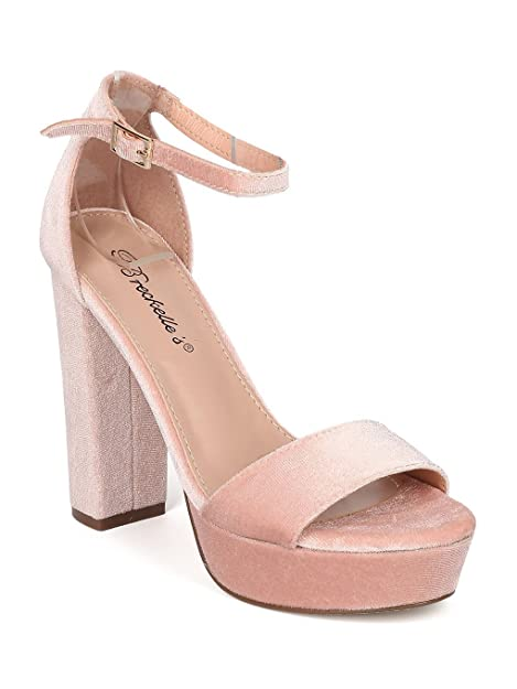 df3f3f75c484a WOMENS LADIES VELVET BLOCK HEELS FORMAL WORK PARTY ANKLE STRAP COURT SHOES  SIZE