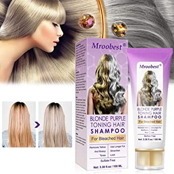 Amazon Com Purple Shampoo No Yellow Shampoo Purple Shampoo For Blonde Hair Brassy Silver Color Treated Hair Moisturizer Bleached Highlighted Hair Bleached Hair Toner Beauty
