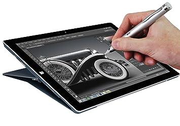 Navitech Silver Fine Point Digital Active Stylus Pen Compatible With
