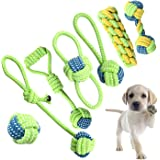 Dog Toys Set Interactive Chewing Rope Ball Toys for Small Puppies and Medium Dogs Pack of 7