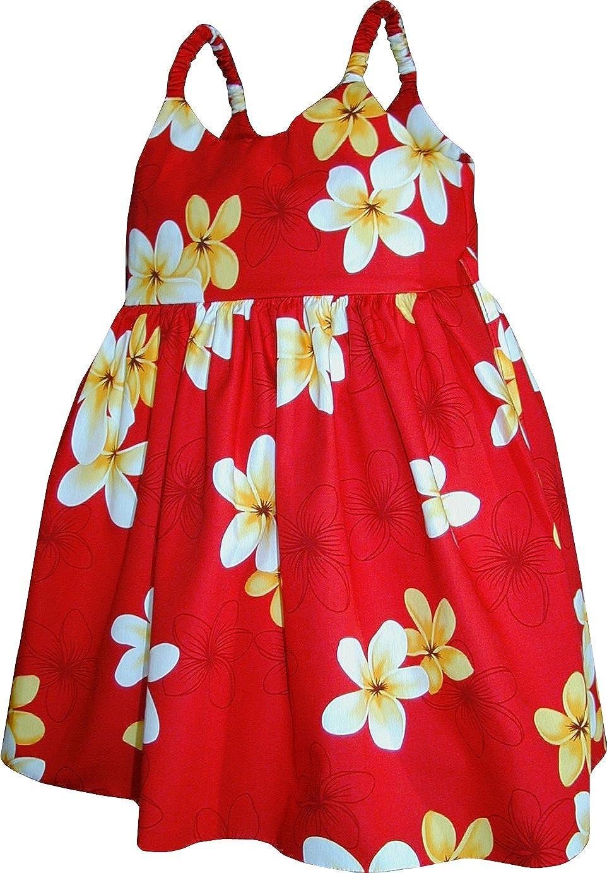 Pacific Legend Girls Melemele Yellow Plumeria Toddler Bungee Dress