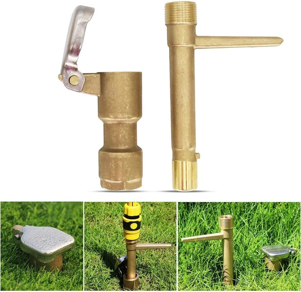 3/4 Inch Brass Quick Coupler Valve Garden Hose Underground Irrigation Tool Heavy Duty Sprinkler Key DN20 3/4""