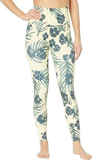 4f8793969daf5 Beyond Yoga Women's Olympus High-Waisted Midi Leggings Floral Sunrise  X-Small 25
