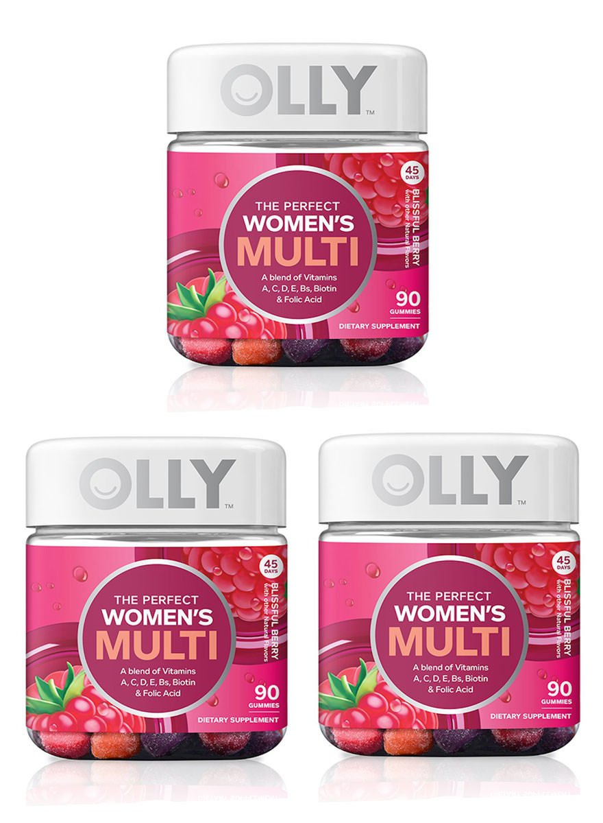 Olly Restful Sleep Gummy Supplement, with MELATONIN & L-Theanine, Chamomile; supports a healthy sleep cycle; Blackbery Zen; 50 count, 25 day supply (packaging may vary), 3 Pack