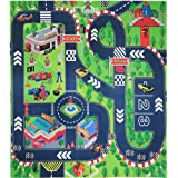 VANTIYAUS Road Playmat Toy,Kids Carpet Playmat,Great For Playing With Cars and Toys,Children Educational Road Traffic Play Mat- Learn and Have Fun Safely