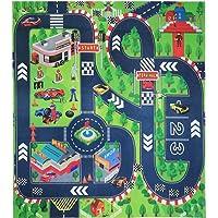 Jouet de Playmat de route, Tapis de tapis d'enfants, grand pour jouer avec des voitures et des jouets, tapis de jeu éducatif de circulation routière d'enfants - apprenez et amusez-vous en toute sécurité