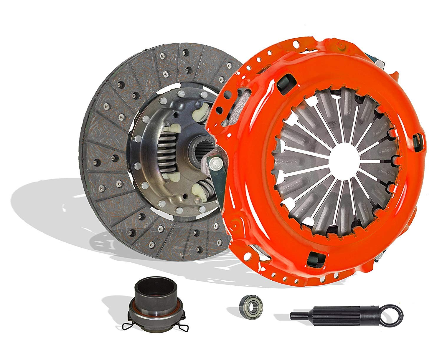 Clutch Kit works with Toyota T100 Tacoma 4Runner Tundra Base Pre Runner S-Runner SR5 Limited Dlx One-Ton Extended Sport 1995-2004 3.4L V6 GAS DOHC (Stage 1; 2Wd; 4Wd)