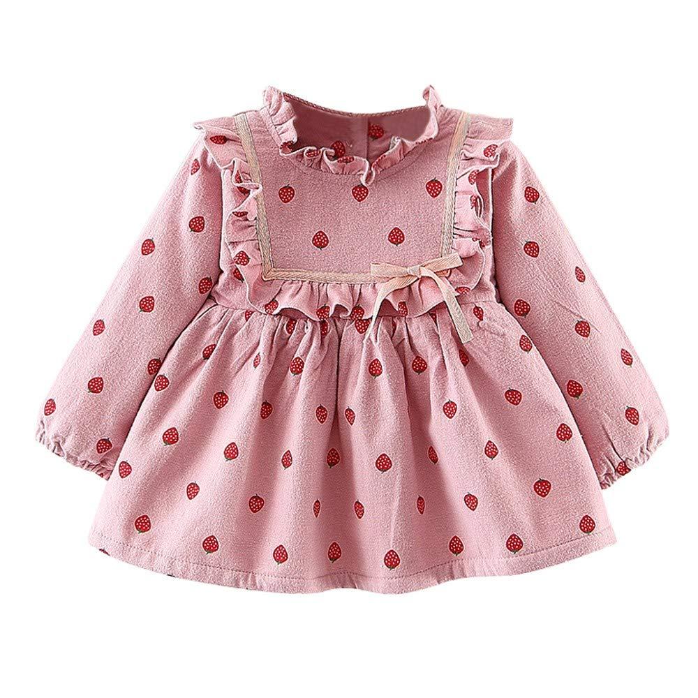 Fineser Baby Girl Clothes Autumn Winter Girl Dress, Newborn