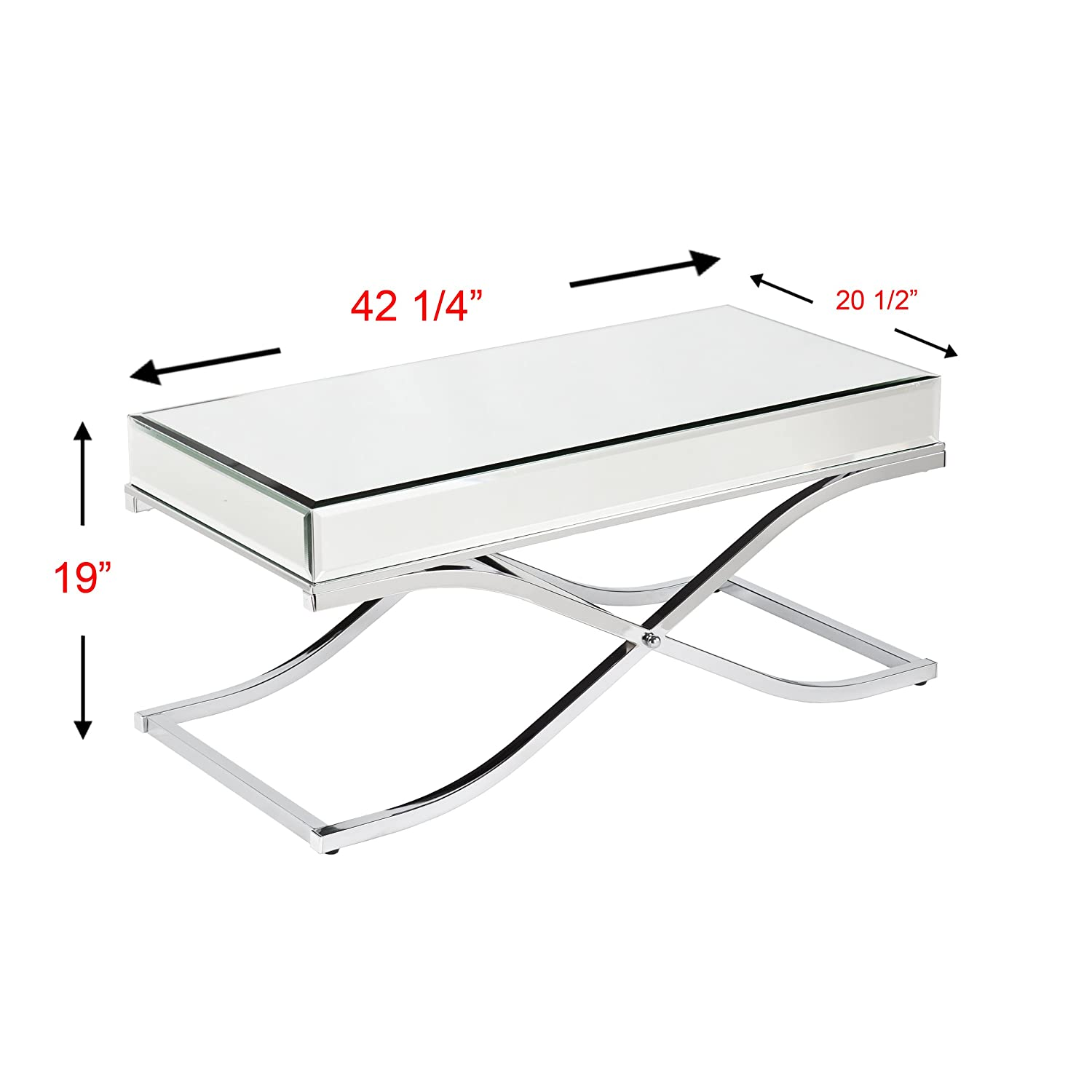 Amazon Southern Enterprises Ava Mirrored Cocktail Table