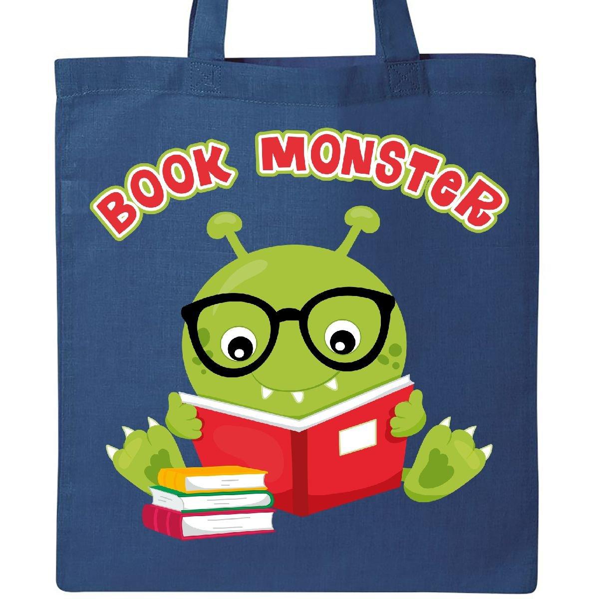 Inktastic Book Monster Boyトートバッグ One Size ブルー  ロイヤルブルー B074T1B2VC