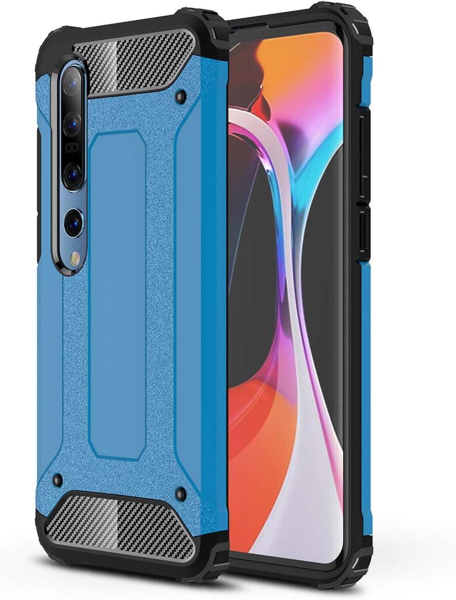 FANFO® Xiaomi Mi 10 Pro 5G/Mi 10 5G Funda, protección contra Golpes de TPU + PC Resistente a arañazos (Doble Capa) Carcasa para Xiaomi Mi 10 Pro 5G/Mi 10 5G, Azul