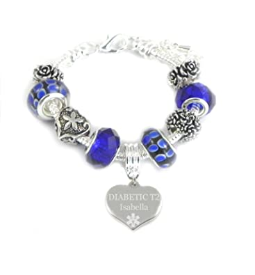 Medical ID Alert Emergency Charm Bracelet Clip Clasp Available in Sizes 15-23cm JypwPpm1q