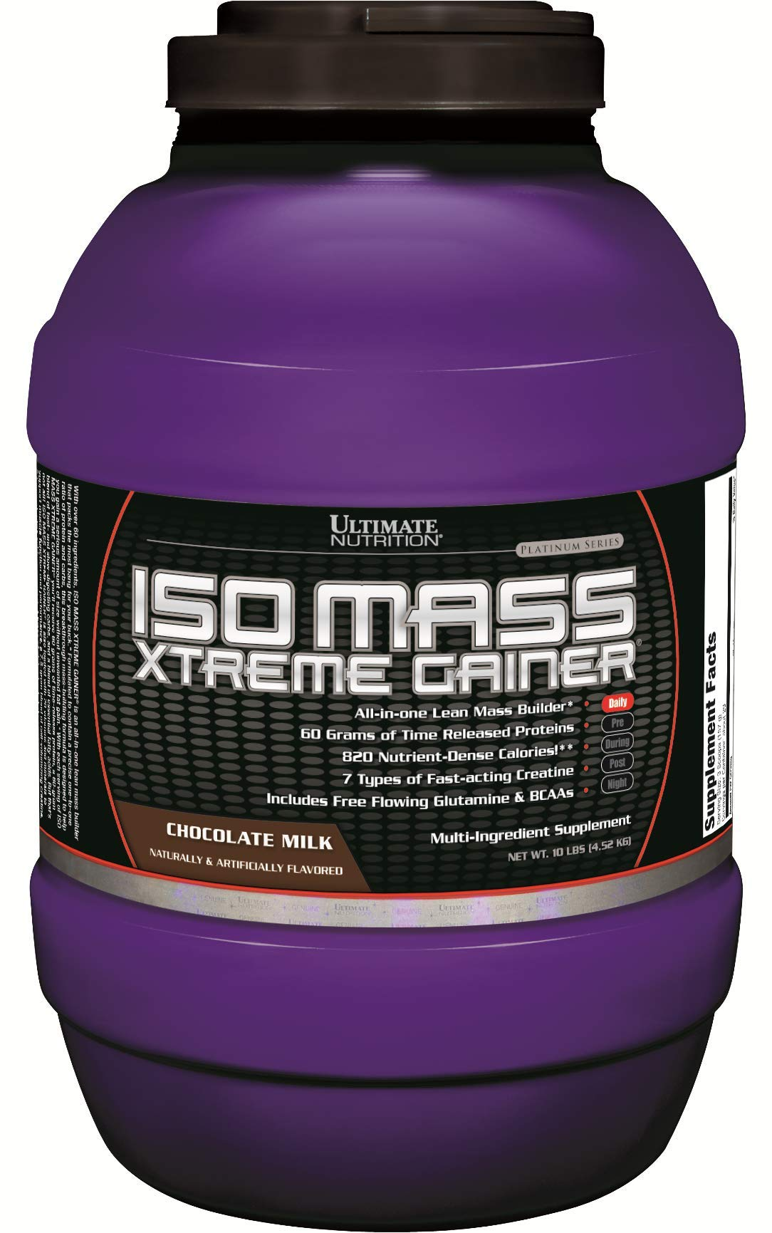 Ultimate Nutrition Iso Mass Xtreme Gainer Serious Weight and Lean Muscle Mass Protein Powder, Chocolate, 30 Servings