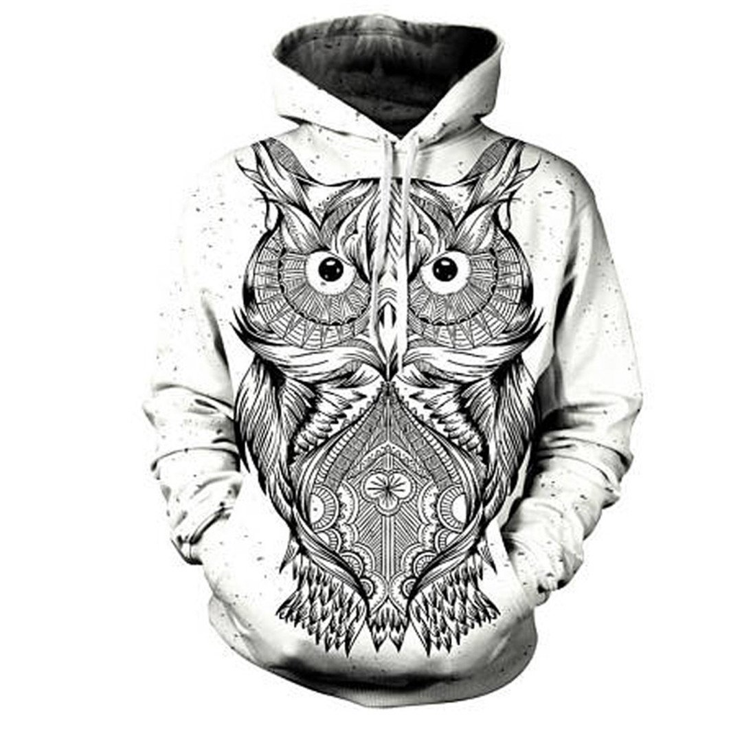 Animal Owl Autumn Winter Hoody Casual All Over Print 3D Hooded Sweatshirt