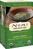 Numi Organic Tea Mate Lemon, 18 Count (Pack of 6) Box of Tea Bags Yerba Mate Green Tea Blend