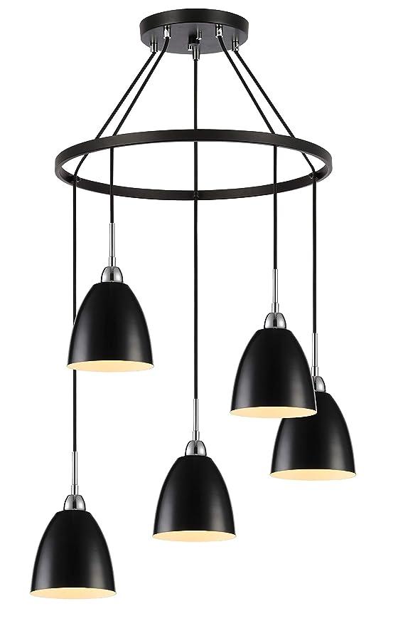 Amazon.com: Woodbridge Lighting 15328CBK-DBZ Chandelier ...