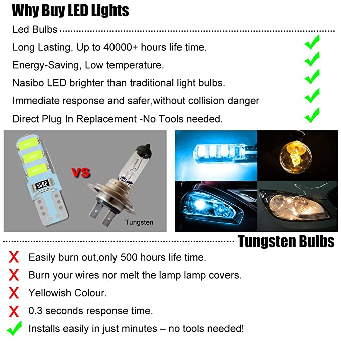 Amazon.com 194 Led bulb Interior Lights for W5W 194 168 2825 T10 Wedge 6-SMD 5730 Replacement and Reverse T10 Waterproof Led Light Bulbs Nasibo Blue 2 ...  sc 1 st  Amazon.com & Amazon.com: 194 Led bulb Interior Lights for W5W 194 168 2825 T10 ...