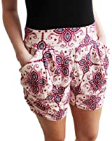 DaySeventh Women's Floral Printing High Waist Shorts Summer Casual Short Pants
